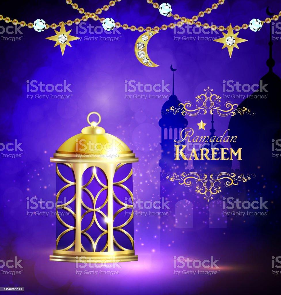 Ramadan Kareem, greeting background - Royalty-free Abstract stock vector