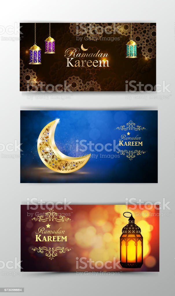 Ramadan Kareem, greeting background vector art illustration
