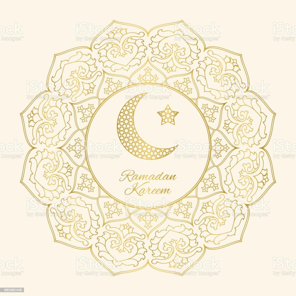 Ramadan kareem greeting card with half moon and star stock vector ramadan kareem greeting card with half moon and star royalty free ramadan kareem greeting card kristyandbryce Images