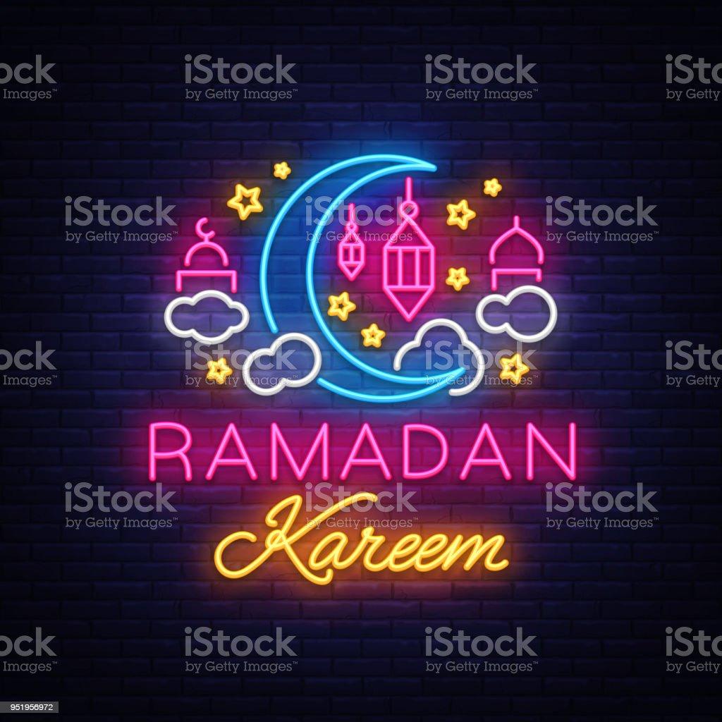 Ramadan kareem greeting cards neon sign design template light banner ramadan kareem greeting cards neon sign design template light banner night neon m4hsunfo