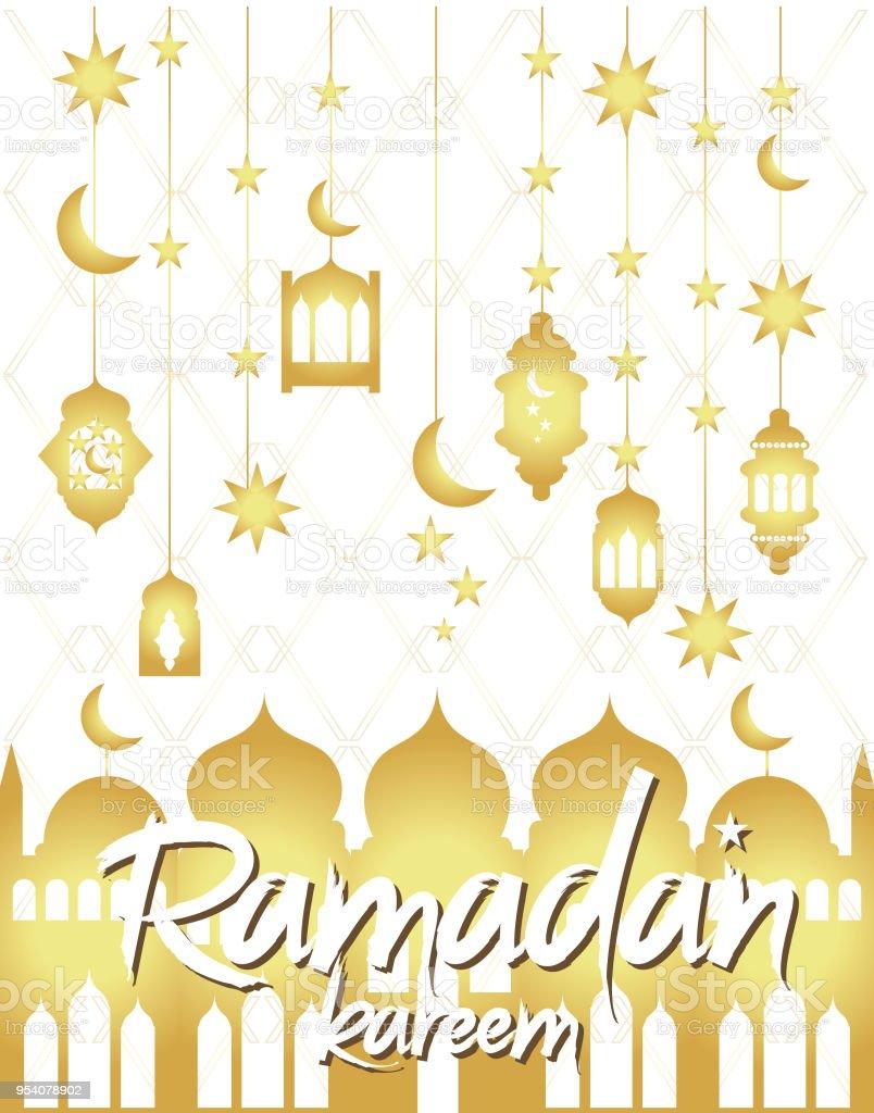 Ramadan kareem greeting poster traditional islamic holiday stock ramadan kareem greeting poster traditional islamic holiday royalty free ramadan kareem greeting poster traditional m4hsunfo
