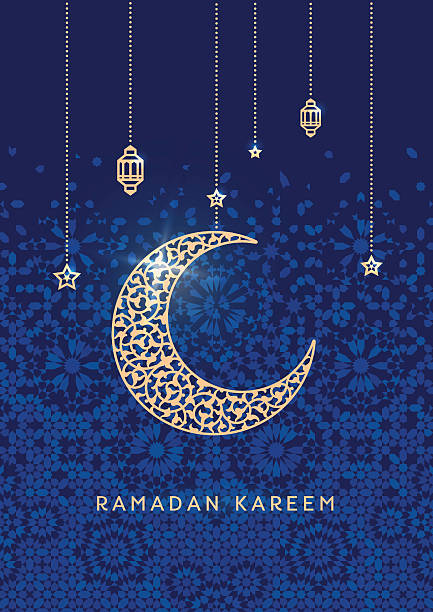 ramadan kareem greetings card - ramadan stock illustrations, clip art, cartoons, & icons