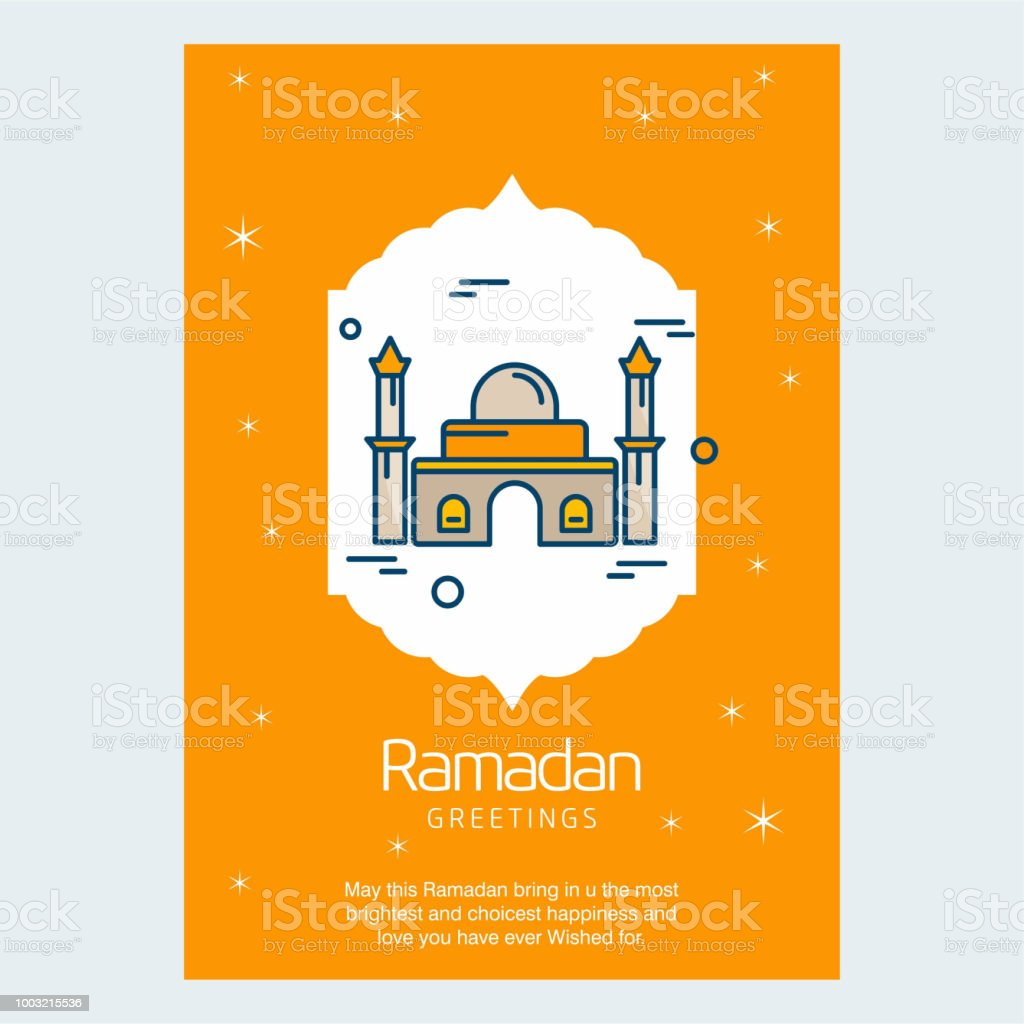 Ramadan Kareem greetings card with stylish design and light background vector vector art illustration