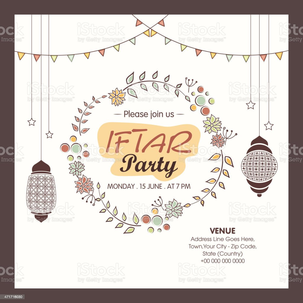 Ramadan kareem iftar party celebration invitation card stock vector ramadan kareem iftar party celebration invitation card royalty free ramadan kareem iftar party celebration stopboris Image collections