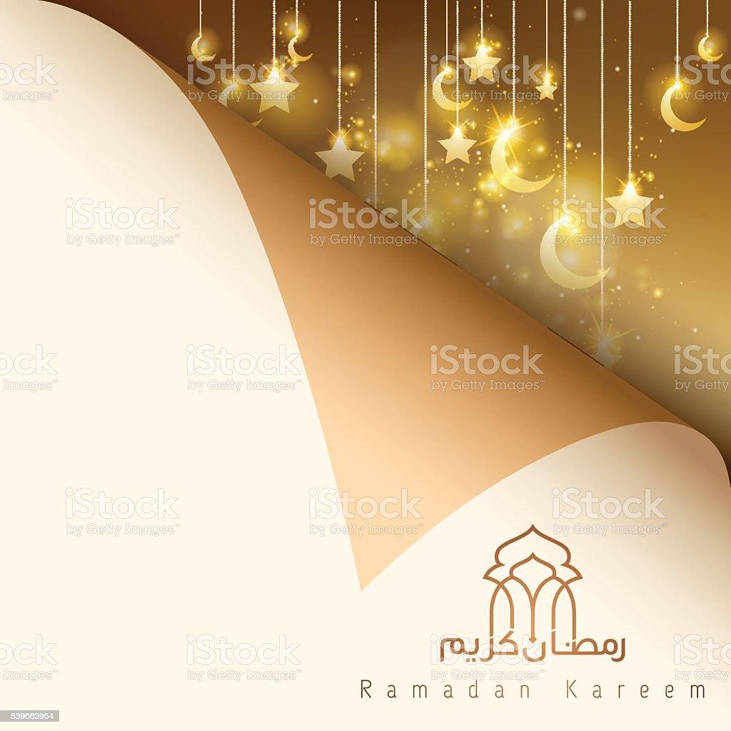 Ramadan Kareem islamic greeting background vector art illustration