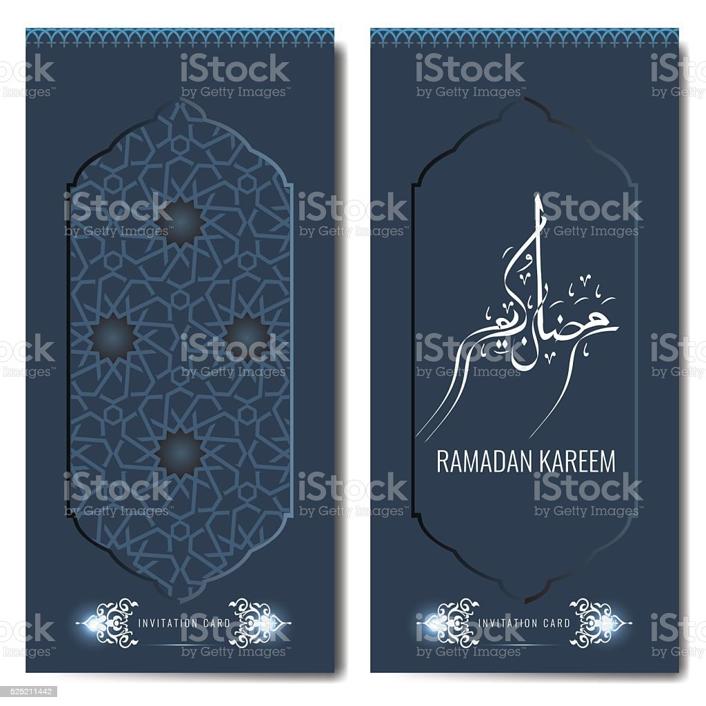 Ramadan Kareem Islamic Greeting Or Invitation Card Template