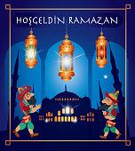 Vector Ramadan Kareem Greetings