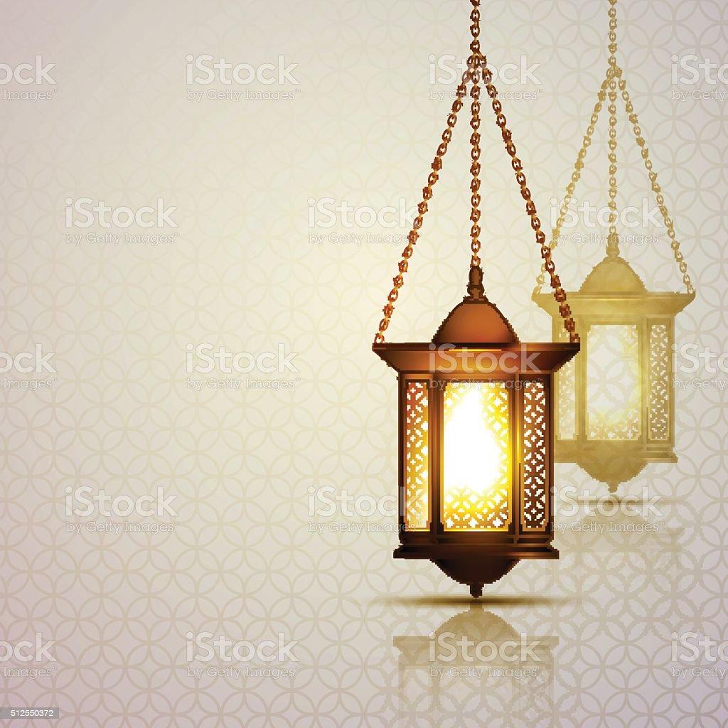 Ramadan Kareem Lantern vector art illustration