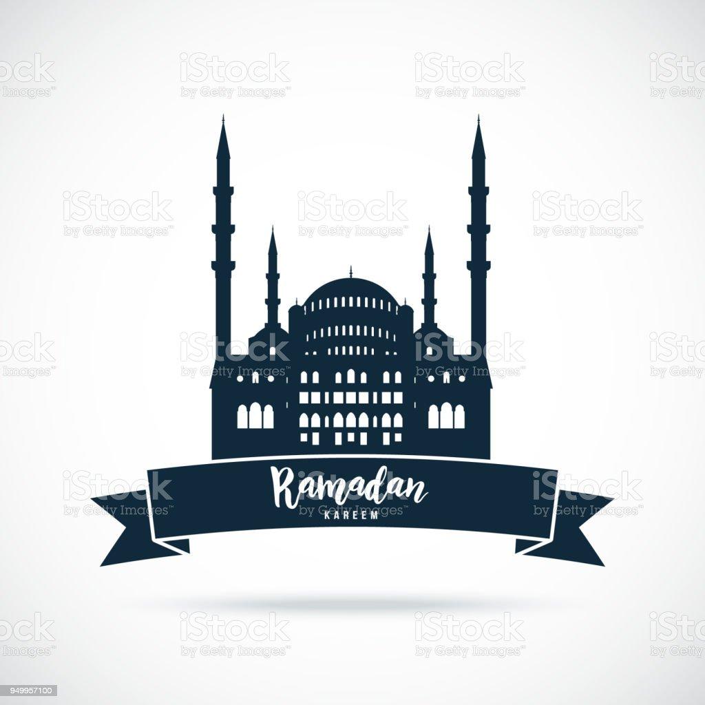 Ramadan Kareem. Mosque sign. Greetings background. Vector illustration. vector art illustration