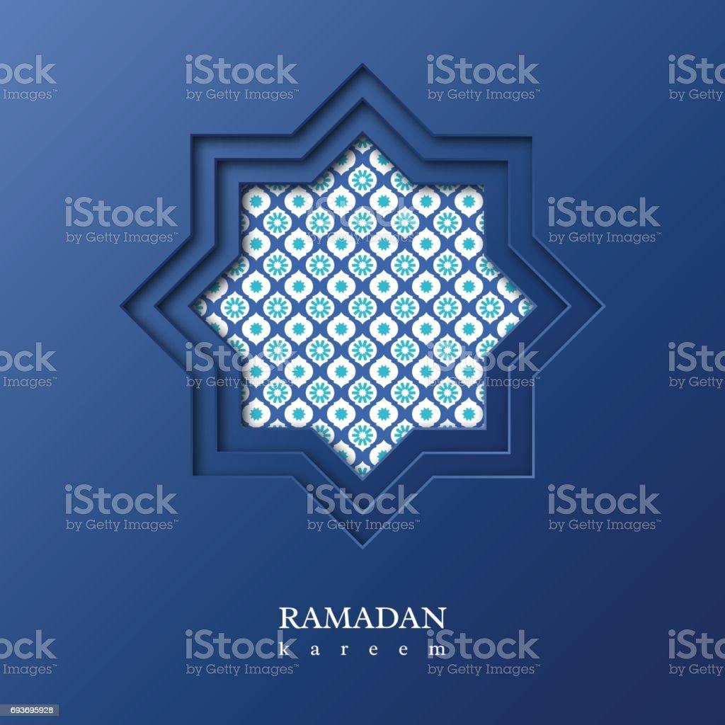 Ramadan Kareem octagon. vector art illustration