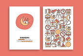 Ramadan Kareem Related Design. Modern Vector Templates for Brochure, Cover, Flyer and Annual Report.