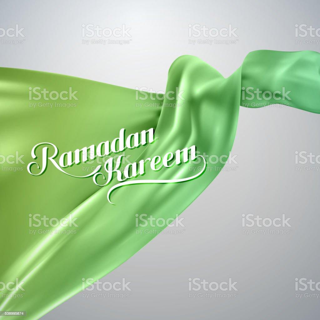 Ramadan Kareem retro label. vector art illustration