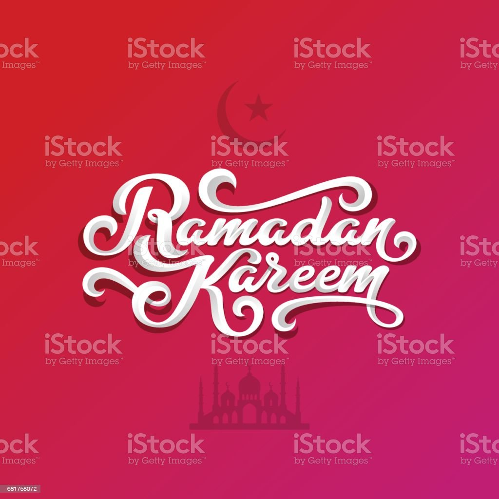 Ramadan kareem text vector lettering greeting card design template ramadan kareem text vector lettering greeting card design template vintage retro calligraphic typography poster with m4hsunfo
