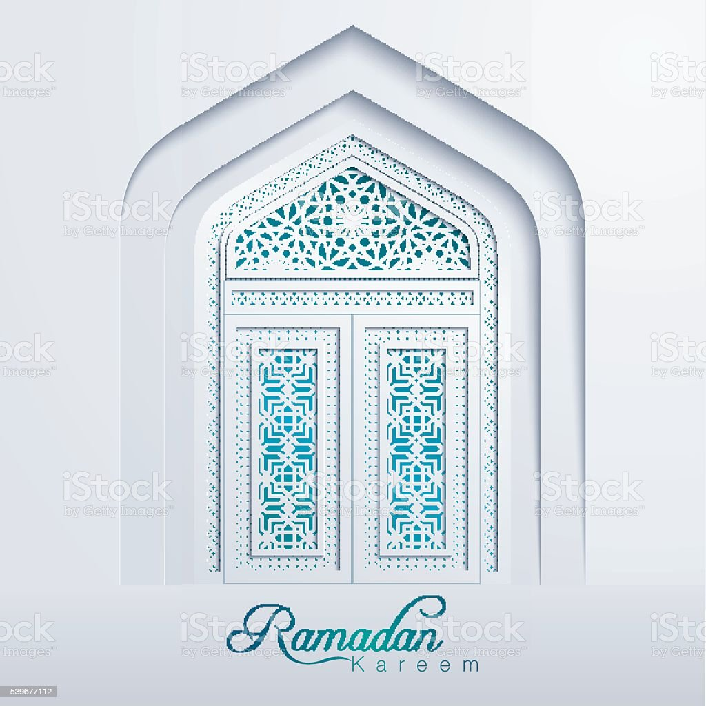 Ramadan Kareem White Mosque Door Geometric Pattern Royalty Free Ramadan  Kareem White Mosque Door Geometric
