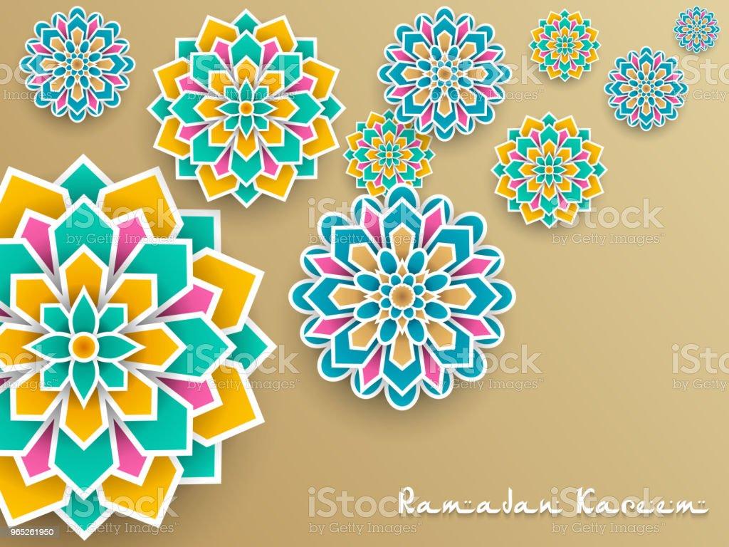 Ramadan Kareem with paper graphic of islamic decoration ramadan kareem with paper graphic of islamic decoration - stockowe grafiki wektorowe i więcej obrazów bez ludzi royalty-free