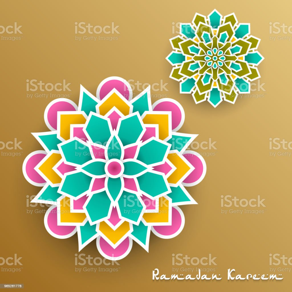 Ramadan Kareem with paper graphic of islamic royalty-free ramadan kareem with paper graphic of islamic stock vector art & more images of no people