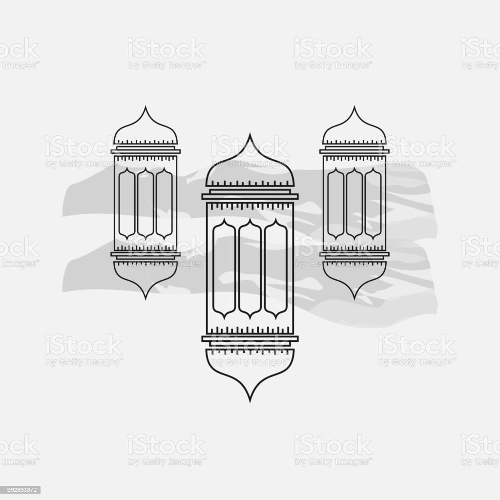Ramadan Lantern Vector Template Design Illustration Stock Vector Art ...