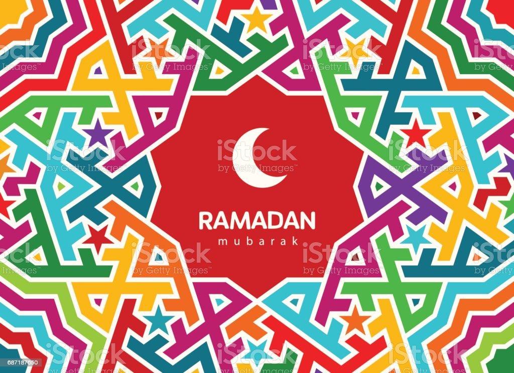 Ramadan mubarak beautiful greeting card background with crescent ramadan mubarak beautiful greeting card background with crescent moon and traditional morocco pattern royalty m4hsunfo