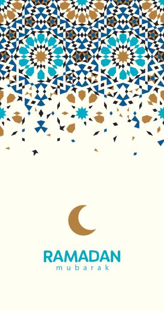 ramadan mubarak beautiful greeting card. - ramadan stock illustrations, clip art, cartoons, & icons