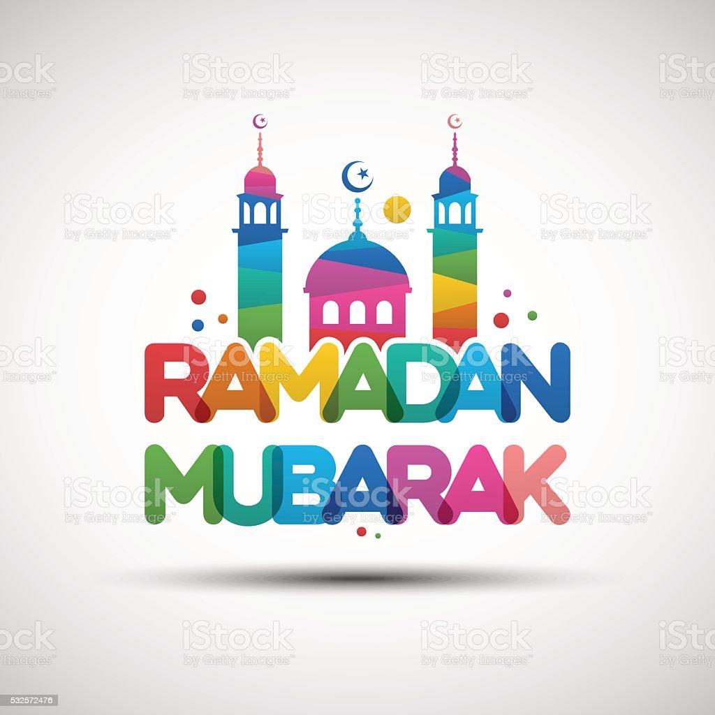 ramadan mubarak greeting card design stock vector art