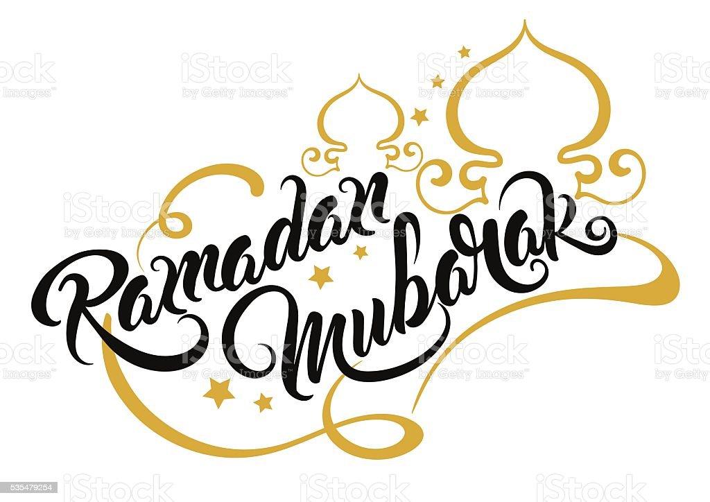 ramadan mubarak text vector stock vector art amp more images