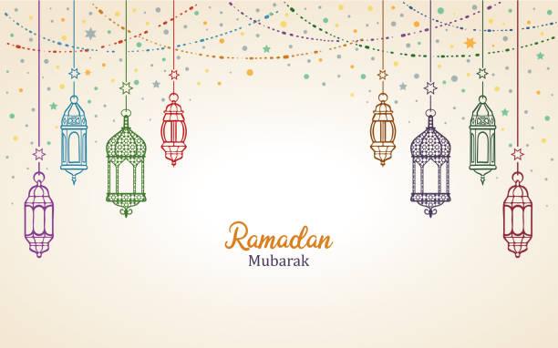 Ramadan Mubarak Ramadan Mubarak ramadan stock illustrations