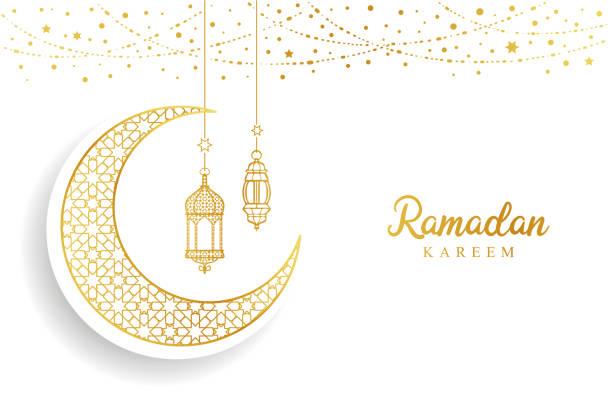 Ramadan Mubarak Ramadan Mubarak eid mubarak stock illustrations