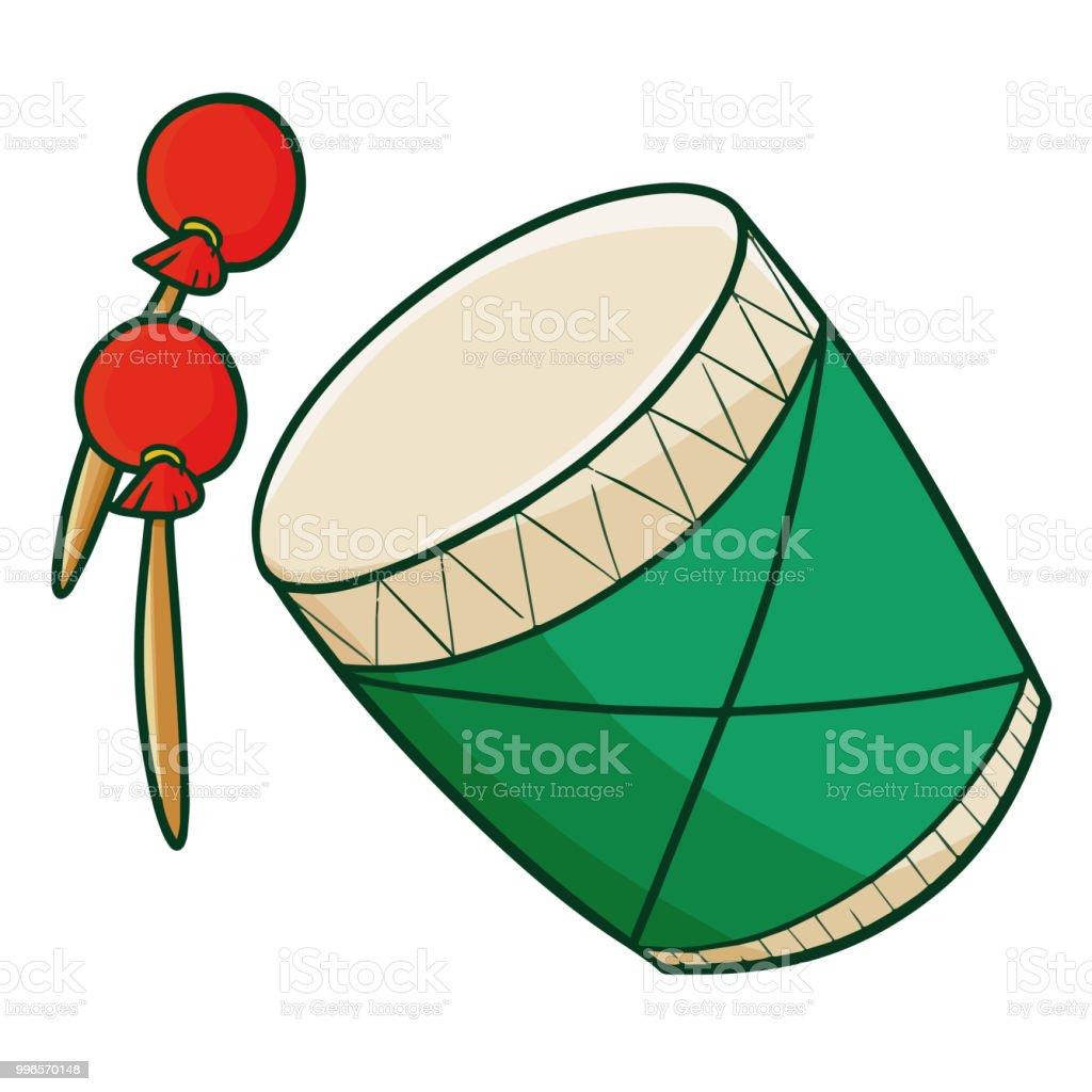 Ramadan or Eid Al-Fitr drum, it's called 'Bedug' in Bahasa Indonesia vector art illustration