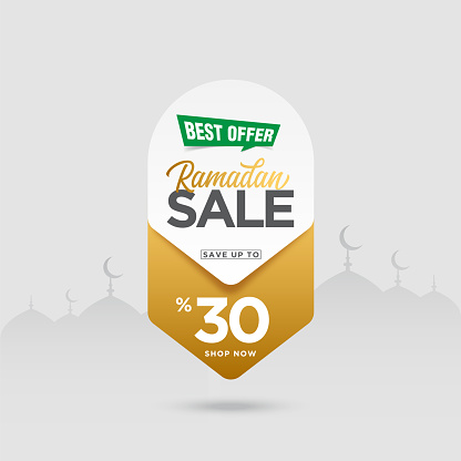 Ramadan Sale Tag vector stock illustration