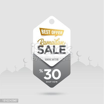 istock Ramadan Sale Tag vector stock illustration 1310242567