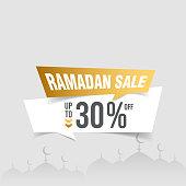 istock Ramadan Sale Tag vector stock illustration 1310242638