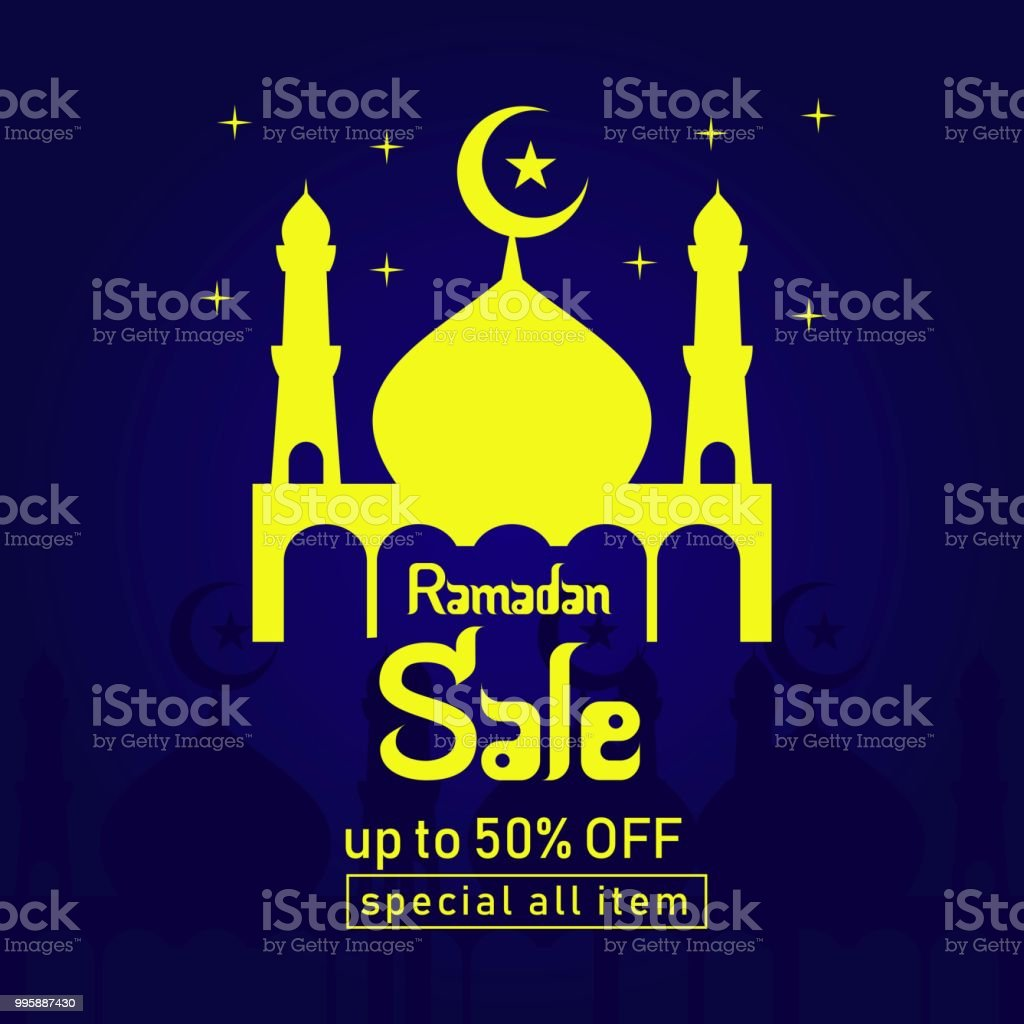 Ramadan Sale up to 50% off Special all Item Vector Template Design Illustration vector art illustration