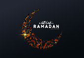 Ramadan vector background. Calligraphic text of Ramadan Kareem. Creative design greeting card, banner, poster. Ramadan Traditional Islamic holy holiday