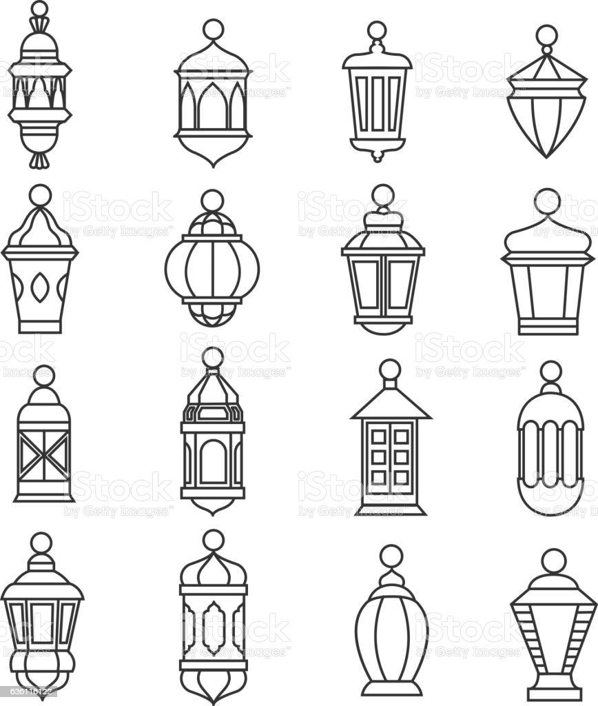 Ramadan vintage lantern linear icons vector muslim antique lamp ramadan vintage lantern linear icons vector muslim antique lamp symbols royalty free ramadan vintage biocorpaavc Gallery