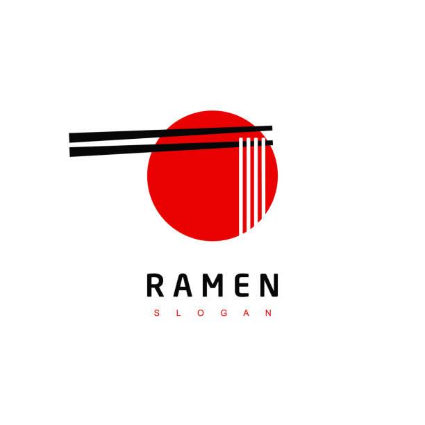 ramen, japanese noodle restaurant symbol - food delivery stock illustrations