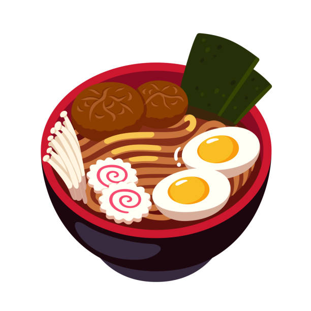 ラーメン麺丼 - ラーメン点のイラスト素材/クリップアート素材/マンガ素材/アイコン素材