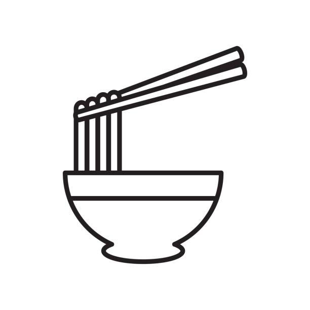 ラーメン麺アイコン。ベクトルのアイコン。 - ラーメン点のイラスト素材/クリップアート素材/マンガ素材/アイコン素材