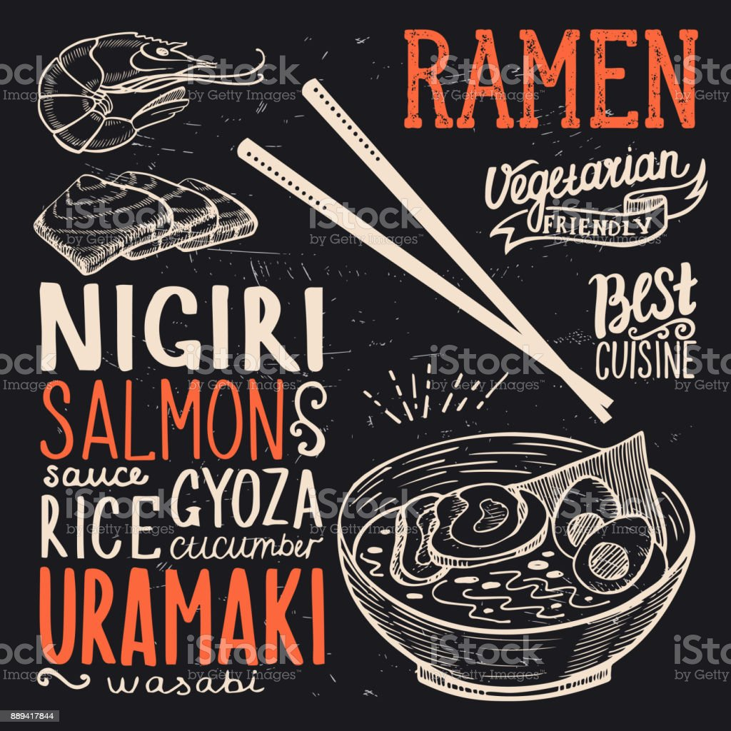 Ramen Poster For Restaurant Stock Illustration Download Image Now Istock