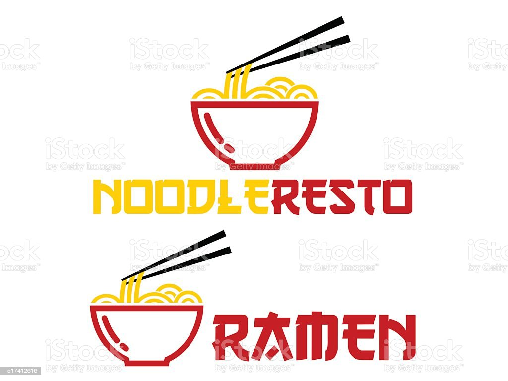 Ramen vector art illustration
