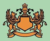 Rampant Griffin Shield