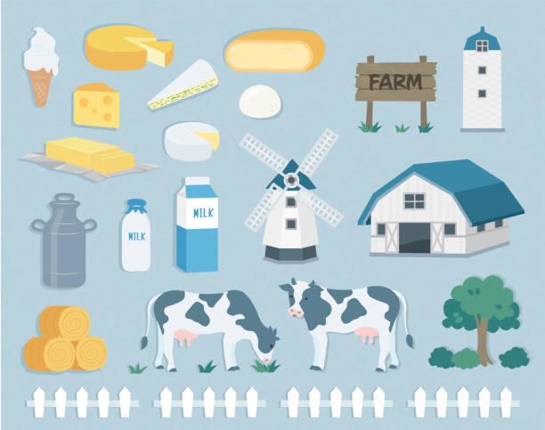 ranch material set illustration - raclette stock-grafiken, -clipart, -cartoons und -symbole