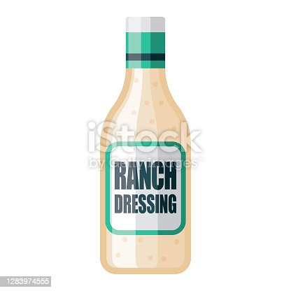 istock Ranch Salad Dressing Icon on Transparent Background 1283974555