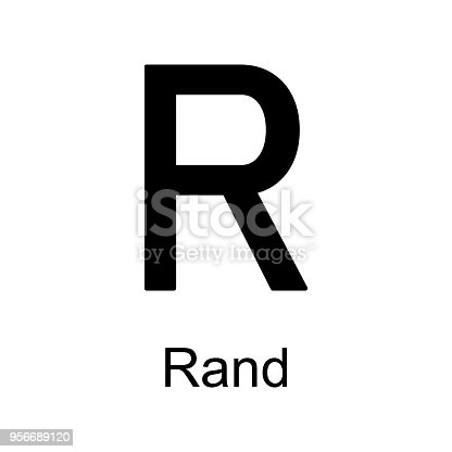 Rand Icon Element Of Currency For Mobile Concept And Web Apps