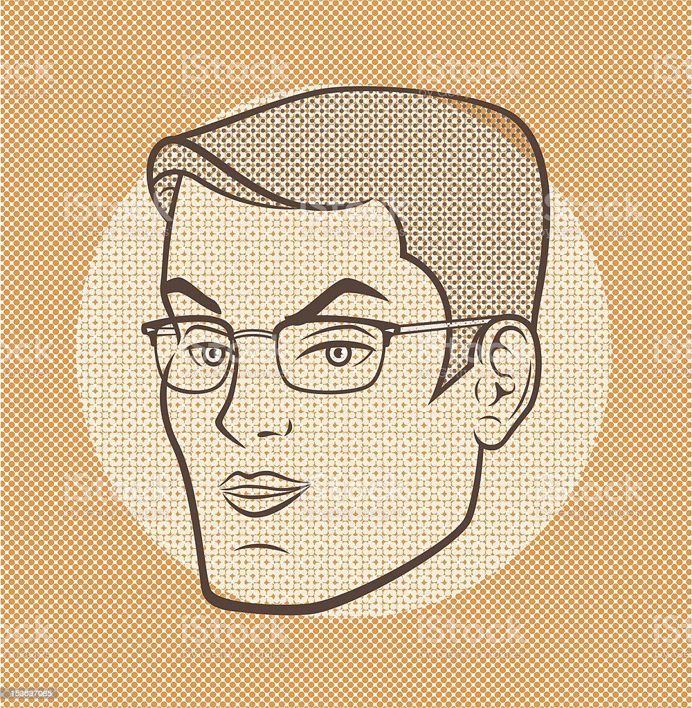 Randal Grey vector art illustration