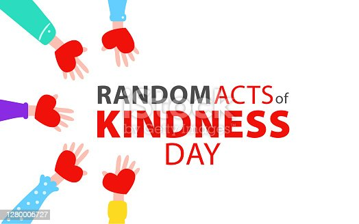istock Random acts of kindness day emblem isolated vector illustration. World altruistic holiday event label. 1280005727