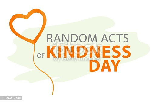 istock Random acts of kindness day emblem isolated vector illustration. World altruistic holiday event label. 1280312619