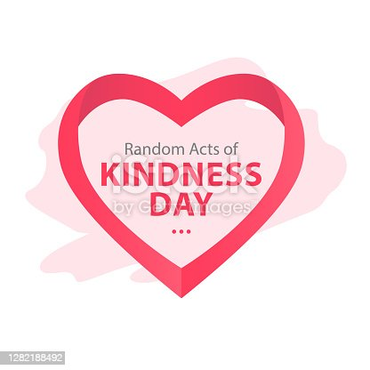 istock Random acts of kindness day emblem isolated vector illustration. World altruistic holiday event label. 1282188492