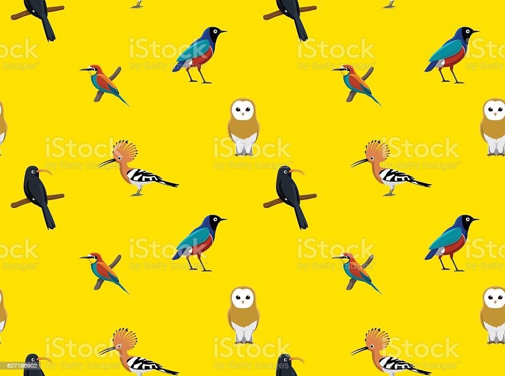 Random African Birds Wallpaper 3向量藝術插圖