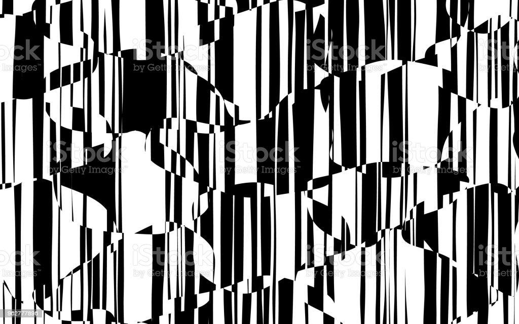 Linhas caóticas aleatórias abstraem padrão geométrico - Vetor de Abstrato royalty-free