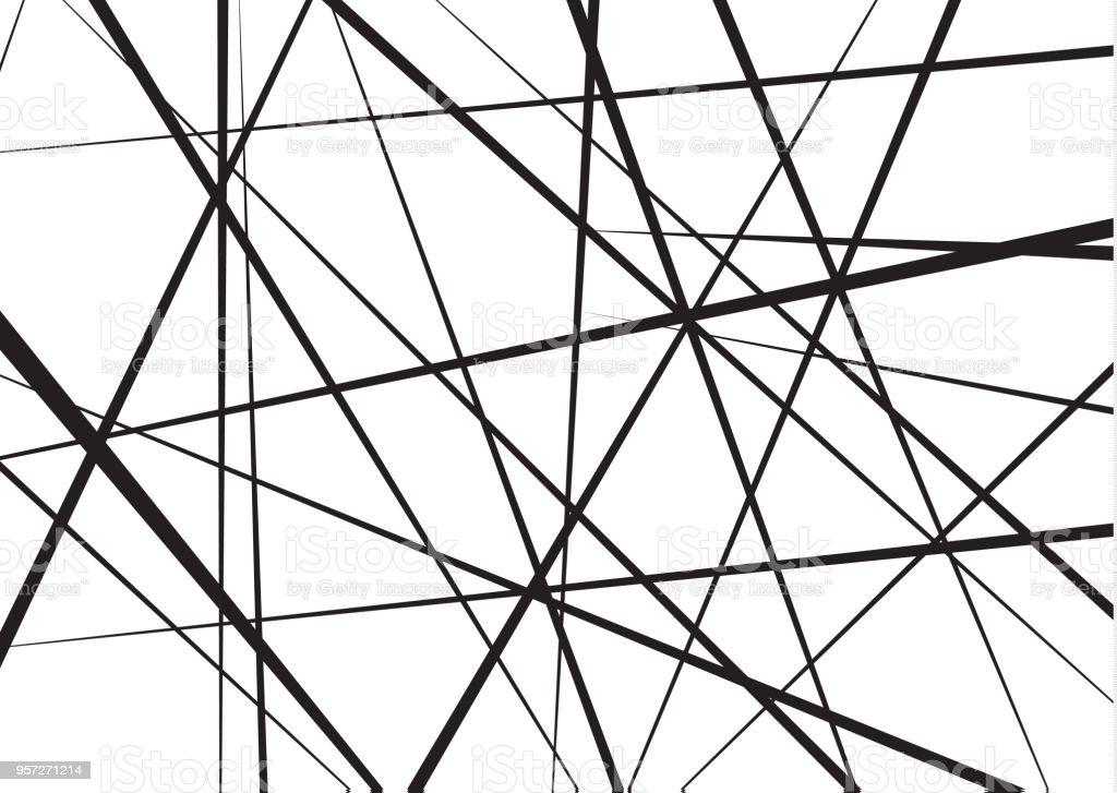 Ilustración de Patrón Geométrico Abstracto Líneas Caóticas Al Azar ...